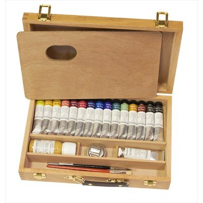 Sennelier Egg Tempera in a luxury Wood Set of 13 Tubes -