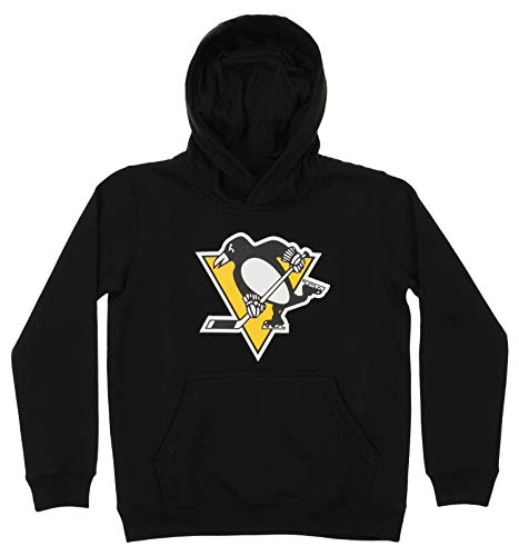 Outerstuff NHL Youth Boy's (8-20) Primary Logo Team Color Fleece Hoodie, Pittsburgh Penguins Medium(10-12)
