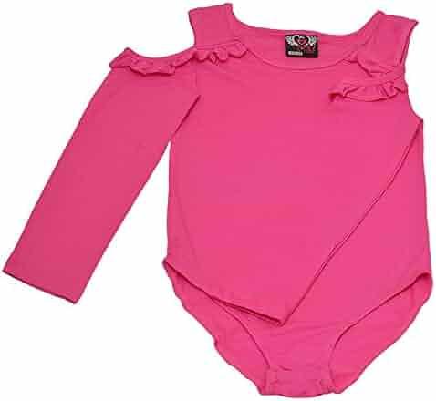 eabf76c5da4 seller  SophiasStyle. (0). Real Love Big Girls Fuchsia Cold Shoulder Ruffle  Long Sleeve Leotard 7-16