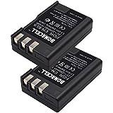 Bonacell 2 Pack 2000mAh Replacement Nikon EN-EL9 Li-ion Battery for Nikon D5000 D3000 D60 D40x D40 Digital SLR Camera