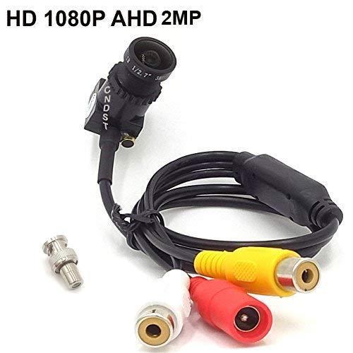 CNDST CCTV 1080P 2MP HD AHD Mini Spy Pinhole Security Camera for CCTV AHD 1080P DVR System, Mini Hidden Spy Camera Starlight, 2.8mm Lens 140 Degree DC 12V 1A