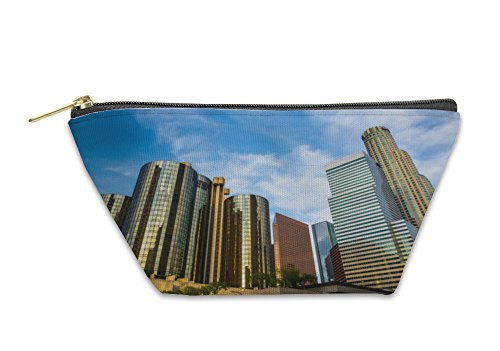 Gear New Accessory Zipper Pouch, Skyscrapers In The Financial District In Downtown Los Angeles, Large, - Stores In Angeles Downtown Los