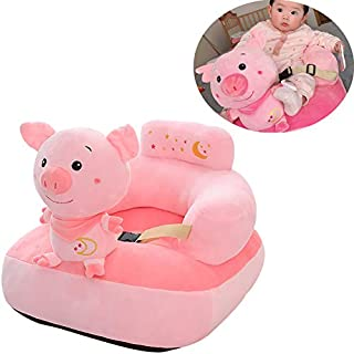 Hofun4U Baby Sofa Chair Support Seat with Adjust Buckle, Infant Soft Stuffed Animals Plush Toy, Toddlers Portable Floor Chair, Baby Learning to Sit, Comfy Chair for Toddlers Baby Girls Boys