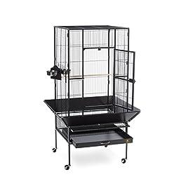 Prevue Pet Products 3352BLK Park Plaza Bird Cage, Black Hammertone