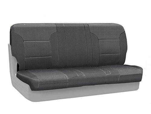 Coverking Rear Bench Custom Fit Seat Cover for Select Chevrolet Camaro Models - Neosupreme (Carbon Fiber)