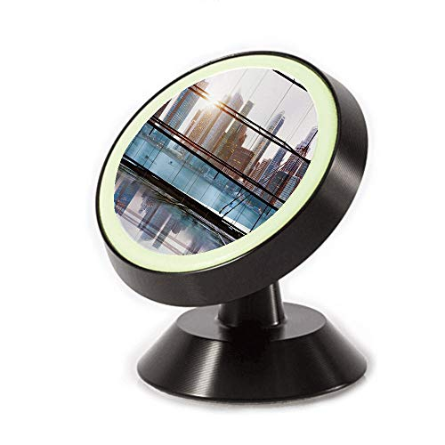 Magnetic Dashboard Cell Phone Car Mount Holder,Futuristic Metropolitan City with Skyscrapers,can be Adjusted 360 Degrees to Rotate,Phone Holder Compatible All Smartphones