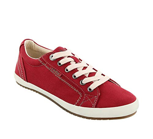 Taos Footwear Women's Star Fashion Sneaker, Red, 6.5 M US