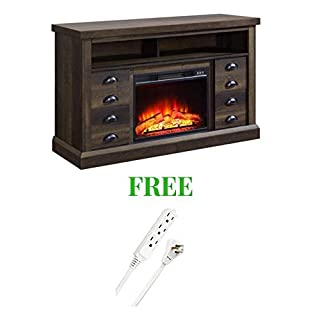 Better Homes and Gardens- Fireplace Media Console Television Stand (Aged Brown Ash) (B07K9TSRZH) | Amazon price tracker / tracking, Amazon price history charts, Amazon price watches, Amazon price drop alerts