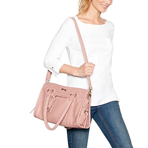Light Large Pink Womens Grab Mantaray Bag Whipstitch 5qTwZfFxf