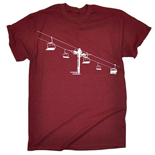 123t Powder Monkeez Men's SKI LIFT DESIGN LOOSE FIT T-SHIRT