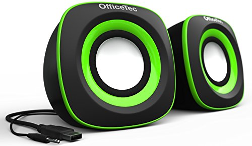Compact Computer Systems - OfficeTec USB Speakers Compact 2.0 System for Mac and PC (Green)