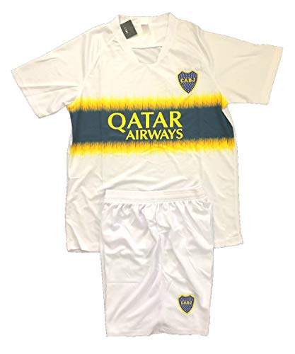 Boca Juniors Soccer Away Adult Uniform Sets Jersey & Short Adult .New (Medium)