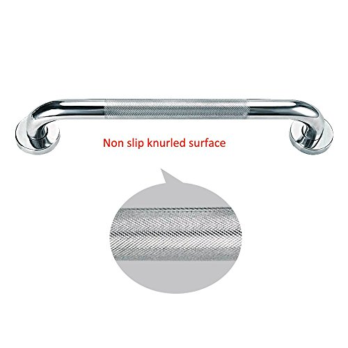 Sunmall 16 Inch Bath Grab Bar, Sturdy Stainless Steel Shower Safety Handle For Bathtub,Toilet, Bathroom,Kitchen,Stairway Handrail,Anti-Slip Grip Prevention for Elderly, Handicapped, Disabled,Pregant W by SUNMALL (Image #2)