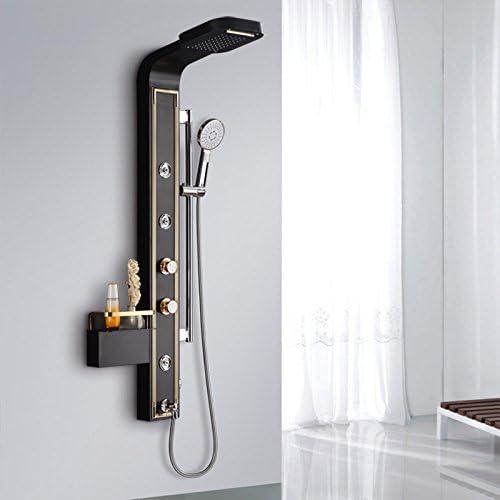 Zxy Hogar Baño ZXY Acero inoxidable multifuncionales mampara de ducha bañera columna Europeo cobre spray Suit de mano ducha ducha: Amazon.es: Hogar