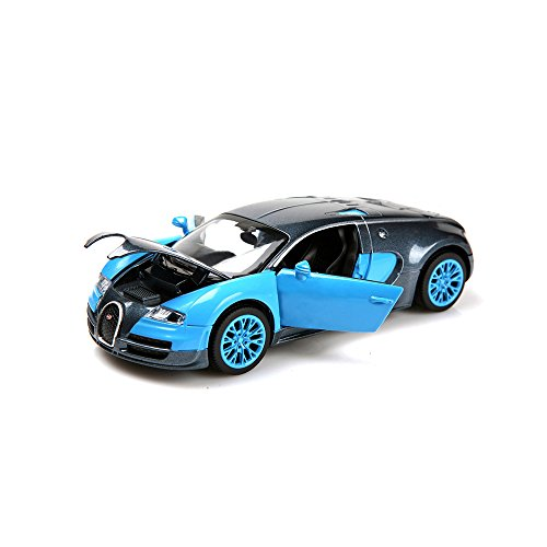New model 1:32 Bugatti Veyron Alloy Diecast automobile mannequin assortment mild&sound Blue by ZHMY