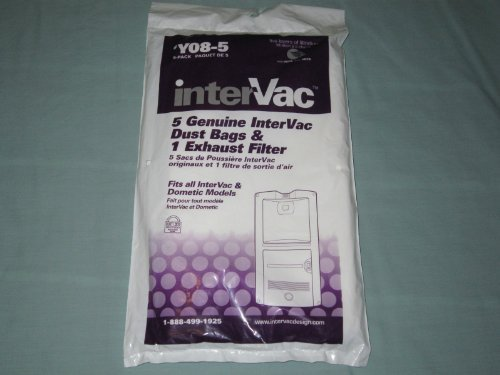 Intervac 5 Pack Dust Bags And Exhaust Filter Y08 5 By Intervac