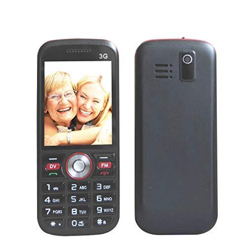 Easy to Use Cell Phones for Seniors, Senior Phone 2'' Loud Speaker Big Buttons FM, Senior Cell Phone 3G Unlocked at&T, T-Mobile Phone, Single Sim Black