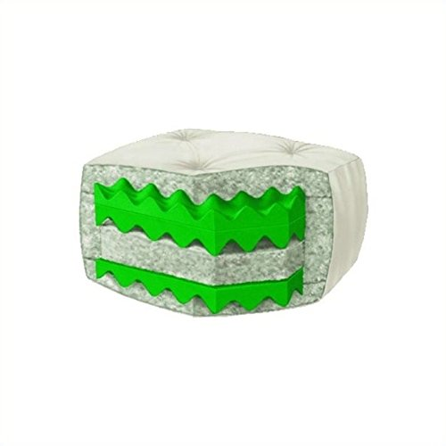 Serta Sycamore Double Sided Convoluted Foam and Cotton Full Futon Mattress, Khaki, Made in the USA - Full Khaki