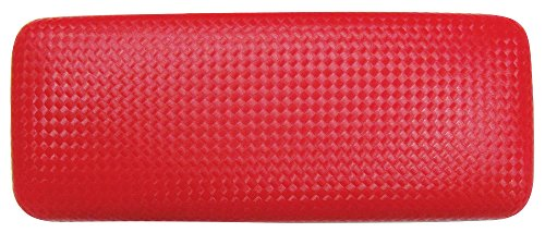 Glasses Case For Men & Women, Large Hard Shell Eyeglass Case, Diamond Weave, Red/Black