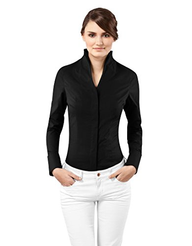 Vincenzo Boretti Blouse, modern-fit, cup-shaped collar,black,Small(US:4/Label:8)