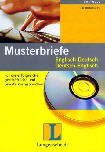 Musterbriefe Englisch Deutschdeutsch Englisch Amazonde Software