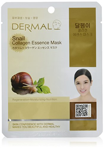 DERMAL Snail Collagen Essence Facial Mask Sheet 23g Pack of 10