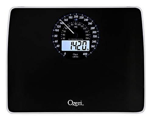 Ozeri Rev Digital Bathroom Scale with Electro-Mechanical Wei