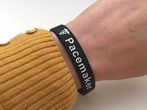T1 Diabetes Hidden Message Bracelet dalerte m/édicale pour Hommes Femmes Bracelet noir en silicone 202 mm de Butler /& Grace