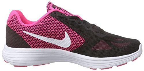 Scarpa Da Corsa Nike Nike Womens Revolution 3 Iper Rosa / Bianco / Nero