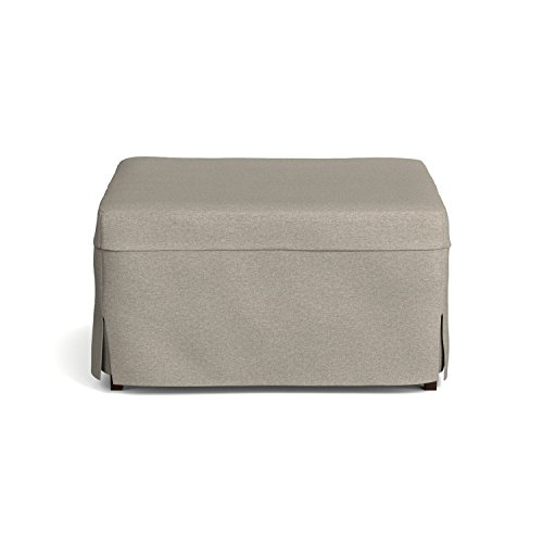 handy living space saving folding ottoman sleeper guest bed gray brown twin. Black Bedroom Furniture Sets. Home Design Ideas