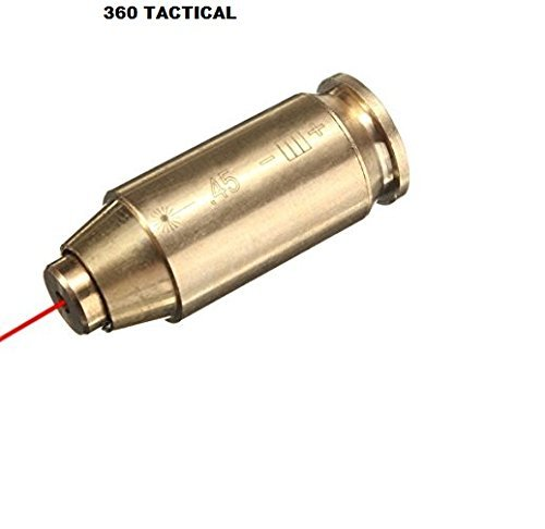360 Tactical .45 CAL Red Dot Laser Boresighter Brass Cartridge Bore Sight Red Hunting Tool Boresight