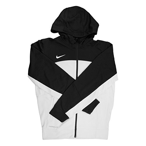 (Nike Therma-fit Men's White/Black Full Zip Training Hoodie - Extra Small)