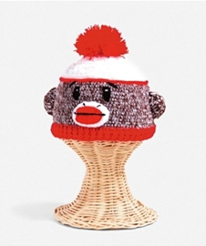 San Diego Hat Company Cottoon Sock Monkey Beanie Brown, 0-6 Months