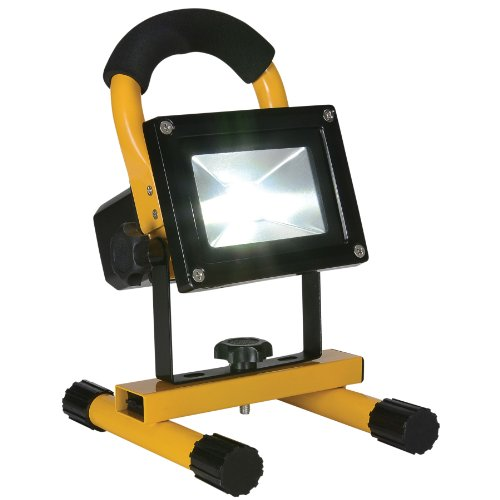 Portable 10W COB Type Super Bright LED Work Light Rechargeable Flood Light Lamp Yellow
