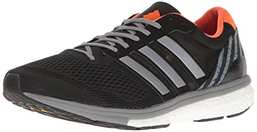 adidas Performance Men's Adizero Boston 6 M GFX Running Shoe Black/Tech Grey/Energy Orange 9 M US