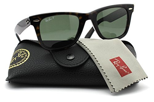 Ray-Ban RB2140 902/58 Wayfarer Dark Havana Frame / Green Polarized Lens - Rb2140 Ban Lenses Ray
