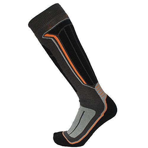 Thermal Ski Socks, Outdoor Knee High Wool Performance Padded Protection Snowboard Socks (M)