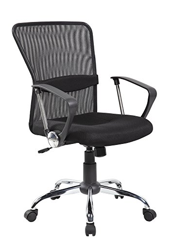 Ayvek Chairs One Touch Pneumatic Adjustable Mesh Mid-Back Swivel Home & Office Computer Chair, Black by Ayvek Chairs