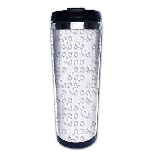 Stainless Steel Insulated Coffee Travel Mug,Ring Motifs Structural Circuit Bands Western,Spill Proof Flip Lid Insulated Coffee cup Keeps Hot or Cold 13.6oz(400 ml) Customizable printing ()