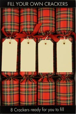 8 x 12 fill your own christmas crackers tartan amazon 8 x 12quot fill your own christmas crackers tartan solutioingenieria