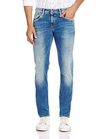 Pepe Jeans Men's Hatch Powerflex Slim Fit Jeans Men's Jeans at amazon