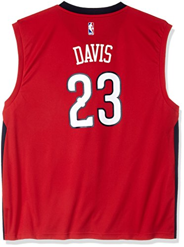 Nba Road Jersey Replica (NBA New Orleans Pelicans Anthony Davis #23 Men's Alternate Road Replica Jersey, 3X-Large, Red)