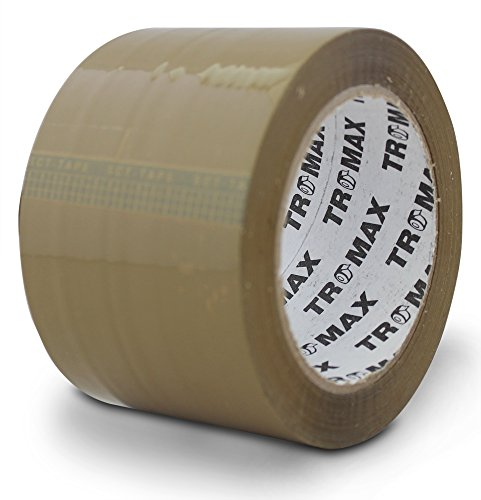 "Tromax 4-rolls (TAN) Packing Tape 3""x110 Yards 2.0 Mil - Bopp Material - Strong Carton Sealing Tape (4 ROLLS)"