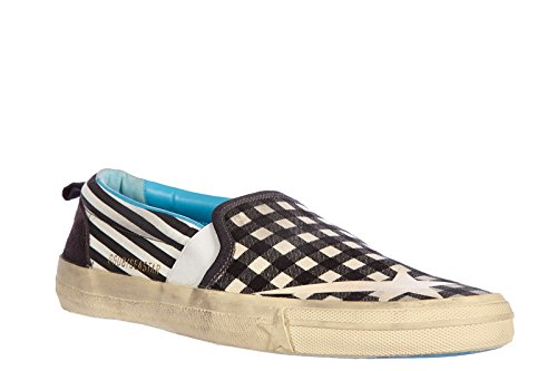 Golden Goose slip on homme en cuir sneakers vintage sea star noir