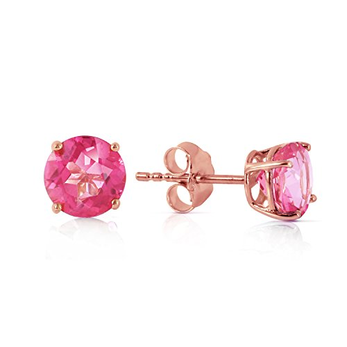 & Topaz Garnet Earrings Pink (1.3 Carat 14K Solid Rose Gold Pink Topaz Stud Earrings)