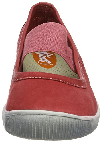 Softinos Ion446sof Rosso Red Ballerine Red Chiusa Donna Washed 002 Punta rrwOdq