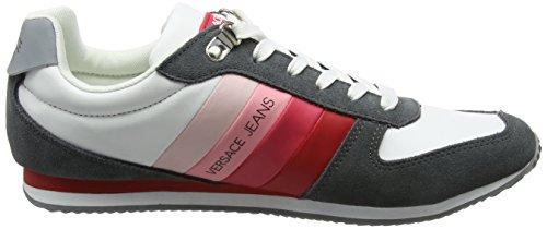 Versace Jeans Ee0yrbsa1_e70013, Sneaker Uomo Multicolore (Bianco Ottico/Rosso)