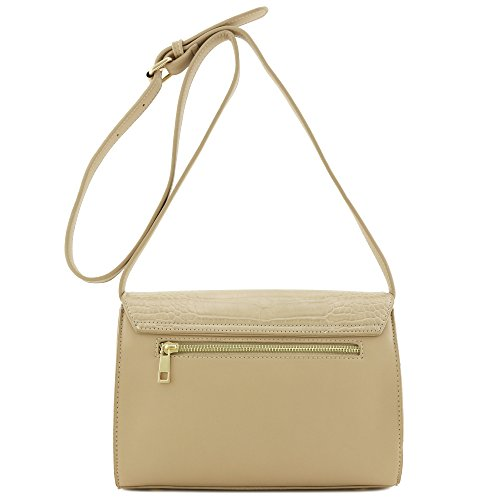 Accent Metal Bag Flapover Skin Alligator Crossbody with Sand Gold aBASWFqw