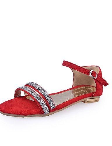 Naisten Kantapää Beige Sandaalit Shangyi Kengät Tasainen Punainen Harmaa Avoin Rento F1x6q