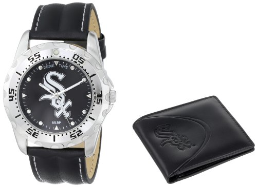 Game Time ' MLB Watch & Wallet Set' Quartz Metal and Polyurethane Casual, Color:Black (Model WWS-CWS)